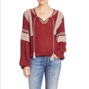 Tularosa embroidered boho blouse